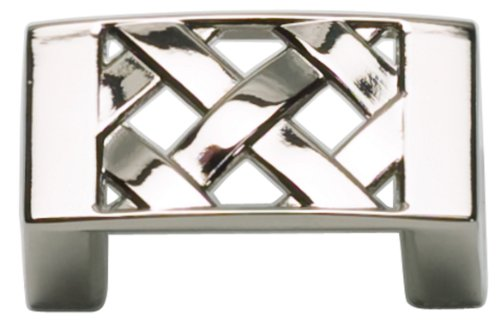 Atlas Homewares Lattice - Atlas Homewares 309-PN Lattice Collection 1.6-Inch Knob, Polished Nickel