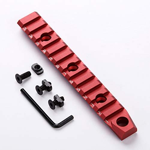TuFok 13-Slot Mlok Picatinny Rail - M-lok Rail Section Aluminum Adapter RED