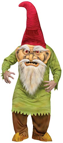 Evil Gnome Fun World Adult Scary Giant Head Halloween Costume Costumes Purim Green Red]()