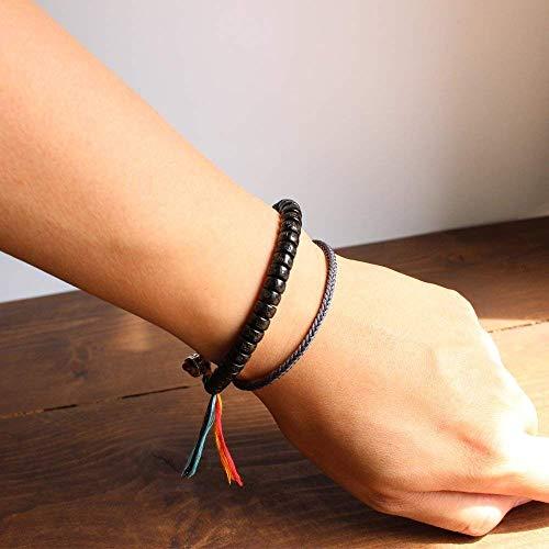 TALE Tibetan Lama Monk Handmade Lucky Knots Rope Bracelet Space Grey - vajrayana 3