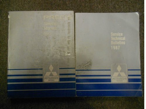 1987 MITSUBISHI Precis Service Repair Shop Manual 2 VOL SET FACTORY OEM BOOK 87 ()