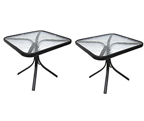 Glass Coffee Table Images.Mainstays Square Outdoor Glass Top Side Table 2 Set