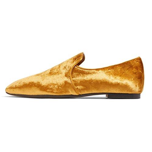 Mocasines Casuales De Las Mujeres De Fsj Resbalón En Los Planos Que Caminan Cómodos Que Conducen Los Zapatos Del Ocio Tamaño 4-15 Us Brown