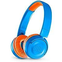JBL JR 300BT Kids On-Ear Wireless Headphones with Safe Sound Technology (Blue/Orange)