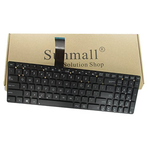 SUNMALL Keyboard Replacement Compatible with Asus K55 K55A K55N K55V K55DE K55DR K55VD K55VJ K55VM K55XI K55VS R500 R500V R500VD R500VS F751LK F751M K751L X751L X751LD Series Black US Layout