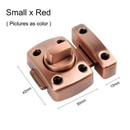 color plateado y rojo y dorado Cerrojo para puerta dorado 42 x 30 x 12 mm, 52 x 38 x 15 mm, 54 x 40 x 13 mm, tama/ño grande y peque/ño Supertool