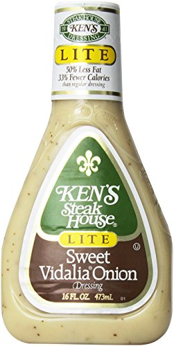 Ken's Lite Sweet Vidalia Onion Dressing 16 Oz (Pack of 3)