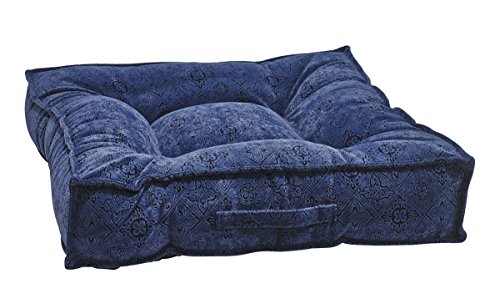 Bowsers Piazza Dog Bed, Large, Navy Filigree by Bowsers