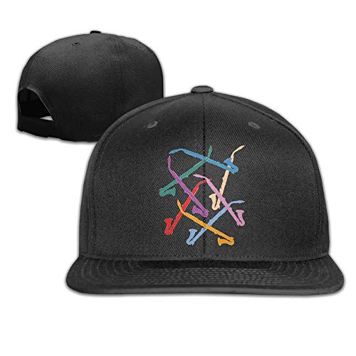 Hnmtown Colorful Alto Clarinets Flat Visor Baseball Cap, Designed Snapback Hat Black