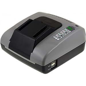 Powery Cargador de Batería con USB para AEG Linterna BFL 18