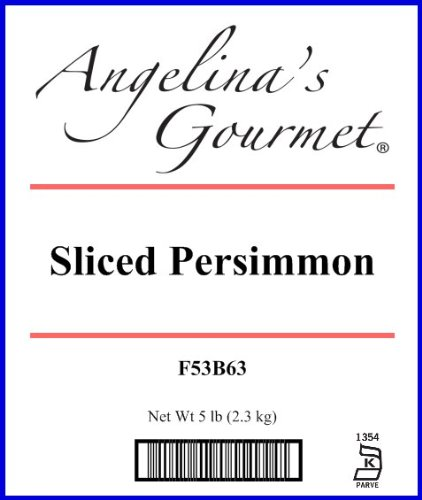 Sliced Persimmon, 5 Pound Box by Angelina's Gourmet (Image #1)