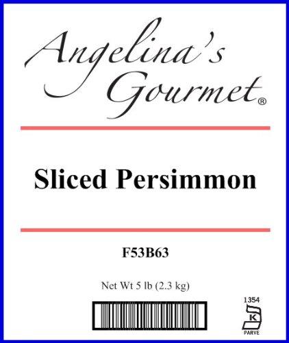 Sliced Persimmon, 5 Pound Box