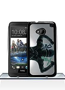 Unique Design Sword Art Online HTC One M7 Funda Case, Cool Design Funda Case For HTC One M7, Ultra Thin & Scratch Resistant Durable Drop Protection Hard Plastic SmartPhone Back Funda Case Cover