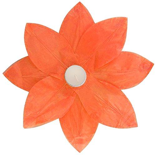 LumaBase-56206-6-Count-Floating-Lotus-Paper-Lanterns-Orange