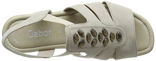 Gabor Shoes Fashion, Sandalias con Cuña para Mujer Beige (beige 12)