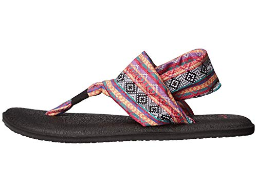 Sandal Yoga Black magenta multi Us m 7 2 Stripe Women's Tribal Magenta B Sling multi Prints Sanuk wRqXApF