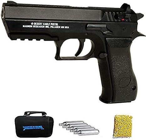 Baby Desert Eagle CO2 | Pistola de Airsoft con Bolas de 6mm Tipo Jericho 941. Sistema: Cargas de CO2. Potencia: <3,5 Julios