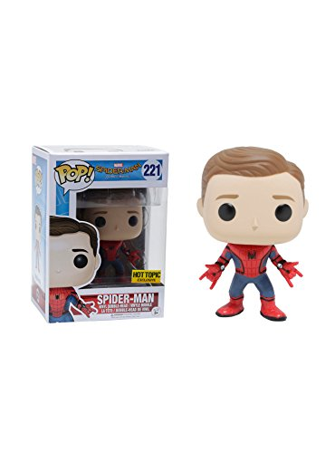 Spider Man New Suit (Funko POP Marvel Spider-Man Homecoming Spider-Man New Suit Unmasked Action Figure)