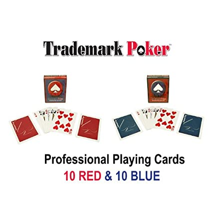 Amazon.com: Marca 20 Barajas de Trademark Poker Naipes (Pack ...