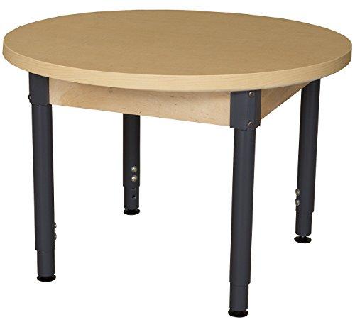 Round High Pressure Laminate - Wood Designs HPL36RNDA1829 - Round High Pressure Laminate Table with Adjustable Legs 18