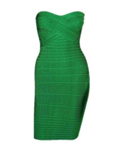 Pinkyee - Vestido - para mujer Verde