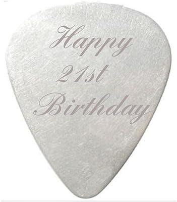 Happy 25th con texto en inglés y Púas para guitarra/púa de color ...