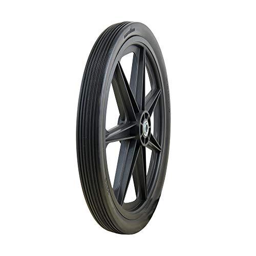 "Marathon 92001 20x2.0 Flat Free Cart Tire on Plastic Rim, 3/4"" Bearing, 1 Pack"