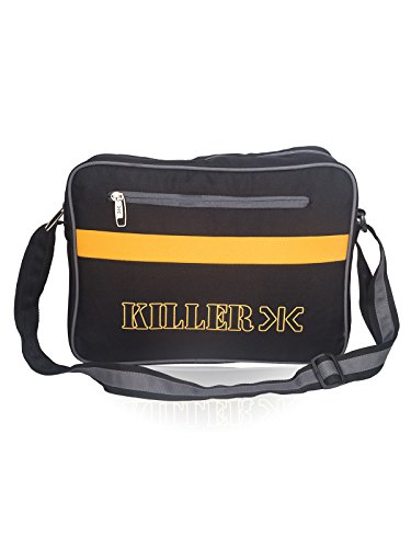 Mens Sling Bag – Killer CARSON Man Messenger Sling Bag Trendy PU messenger Bag – Navy Blue