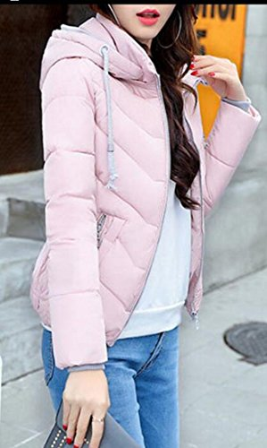 Women's Long Pink amp;S Down Puffer Coat Shorts M Padded amp;W Winter Sleeve HqTnwEXx