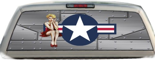(US Air Force- Pin Up Girl #2- 22 Inches-by-65 Inches- Rear Window Graphics)
