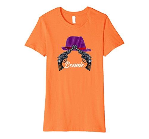 Womens Mrs Bonnie Gangster Couples Halloween Costume Premium Shirt Large Orange - Mr T Costume Ideas