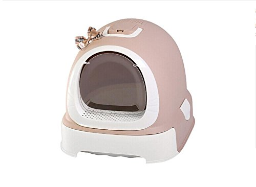 Zero Cat Litter Box Cat Pan Jumbo Hooded Cat Litter Tray Large Litter Box Multi-Color Pet Litter Tray portable For outdoor travel Self-Cleaning Litter Box Hygienic MS-115, (Litter Tray Cartridge)