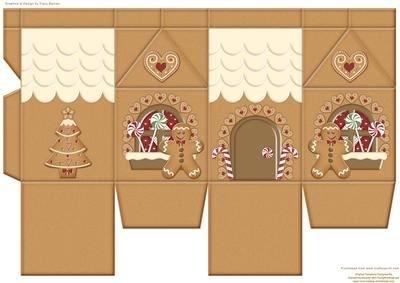 Gingerbread House Milk Carton by Tracy Barnes Craftsuprint