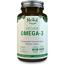 VEGAN OMEGA 3 – Better than Fish Oil   60 Capsules of Algal DHA and EPA   Plant Based Brain Supplement, Maintain Cardiovascular Health and Quality Prenatal Omega-3   Vegetarian Fatty Acids Supplements
