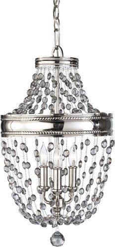 Contemporary Fashionable 5 Light Chandelier With Crystal Pendants in US - 2