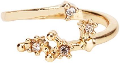 lehao764 リング 指輪 十二星座リング ファッション上品 エレガント シンプル レディース ジュエリー 蟹座