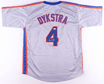 best service 4b77e 6faa3 Len Lenny Dykstra Nails Signed Jersey JSA Mets at Amazon's ...