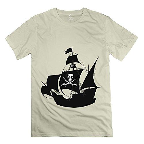 Sihan Pirate Ship Wall Art Sticker Men's Funny Tee Size S Natural
