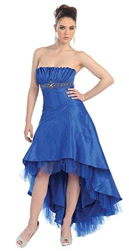 Abendkleid Abiballkleid Brautjungfernkleid große hinten vorne lang Vokuhila Größen Purple kurz Hochzeitsgast Kleid rxnqHIXr1