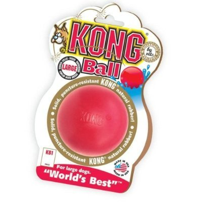 KONG Rubber Ball Puncture Resistant Size:Med/Large Pack of 2