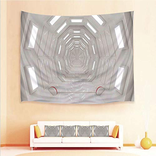 Clock Plasma State (iPrint 1pcs Hanging Tapestry 4pcs Pillow case,Wall Hanging Blanket Beach Towels Picnic Mat Home Decor,Atmospheric Plasma Cosmonaut Transportation,3D Printed Tapestry Bedroom Living Room)