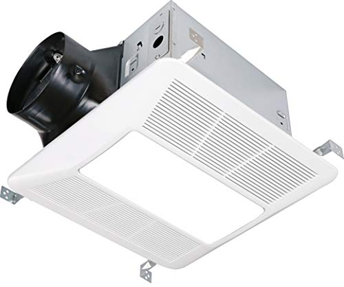 KAZE APPLIANCE SEP120L2 Ultra Quiet 120 CFM, 0.3 Sones Bathroom Exhaust Ventilation Fan with LED Light and Night Light