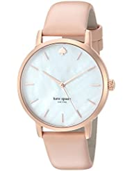 kate spade new york Womens Metro Quartz Stainless Steel and Leather Casual Watch, Color:Beige (Model: KSW1403)