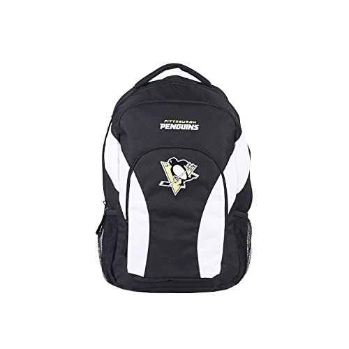 (The Northwest Company 1 Pc, Pittsburgh Penguins Backpack Draftday Style Black & Black, 600D Polyester Construction & Mesh, With Team Logo & Team Word Mark, Approx. 18