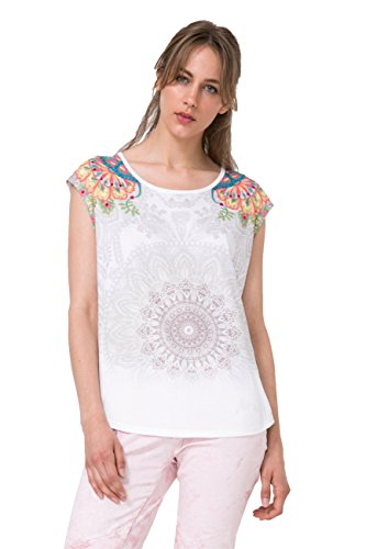 Desigual Women's Basic Vest Knitted Sleeveless T-Shirt, S...