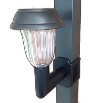 1 light brightness 5 lumen clip on solar lanai lights for patio 39 s screen enclosures and. Black Bedroom Furniture Sets. Home Design Ideas
