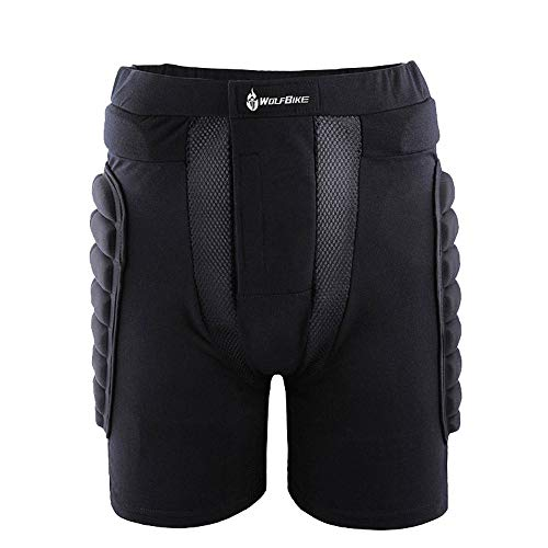 WELCOMEUNI Fashion Ski Shorts Snowboard Padded Protective Protection Impact Hip Body Armour Safety ()