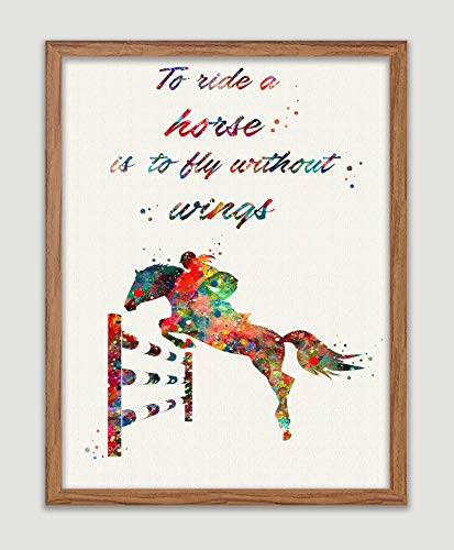 Equestrian Competitions Quote Poster Jumping Horse Art Print Horse Wall Art Horse Riding Wall Decor Animal Home Decor Wall Hanging Great Gift for Equestrian