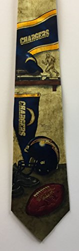 Eagles Wings San Diego Chargers Nostalgia Tie by Eagles Wings