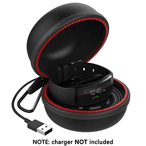 Gear Fit 2 Charger Holder, Gear Fit 2 Pro Charging Stand Dock Cradle Case Accessaries, Portable Travel Carrying EVA Protective Docking Station for Samsung Gear Fit2 & Gear Fit2 Pro, Black